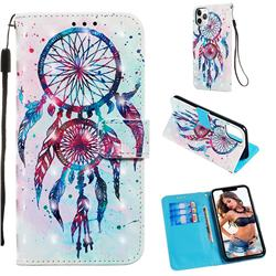 ColorDrops Wind Chimes 3D Painted Leather Wallet Case for iPhone 11 Pro Max (6.5 inch)