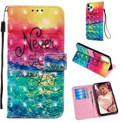 Colorful Dream Catcher 3D Painted Leather Wallet Case for iPhone 11 Pro Max (6.5 inch)