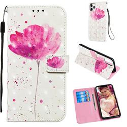 Watercolor 3D Painted Leather Wallet Case for iPhone 11 Pro Max (6.5 inch)
