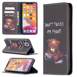 Chainsaw Bear Slim Magnetic Attraction Wallet Flip Cover for iPhone 11 Pro Max (6.5 inch)