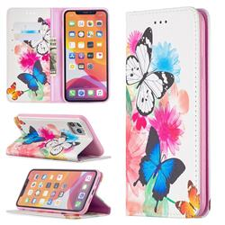 Flying Butterflies Slim Magnetic Attraction Wallet Flip Cover for iPhone 11 Pro Max (6.5 inch)