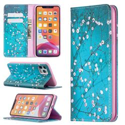 Plum Blossom Slim Magnetic Attraction Wallet Flip Cover for iPhone 11 Pro Max (6.5 inch)