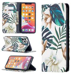 Flower Leaf Slim Magnetic Attraction Wallet Flip Cover for iPhone 11 Pro Max (6.5 inch)