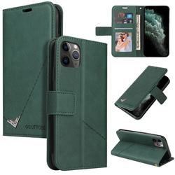GQ.UTROBE Right Angle Silver Pendant Leather Wallet Phone Case for iPhone 11 Pro Max (6.5 inch) - Green