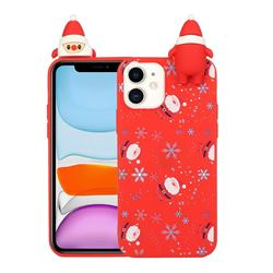 Snowflakes Gloves Christmas Xmax Soft 3D Doll Silicone Case for iPhone 12 mini (5.4 inch)