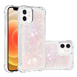 Dynamic Liquid Glitter Sand Quicksand TPU Case for iPhone 12 mini (5.4 inch) - Silver Powder Star