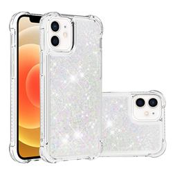 Dynamic Liquid Glitter Sand Quicksand Star TPU Case for iPhone 12 mini (5.4 inch) - Pink