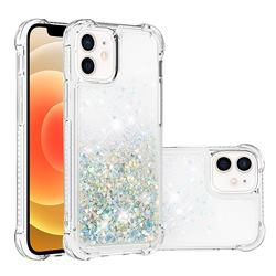 Dynamic Liquid Glitter Sand Quicksand Star TPU Case for iPhone 12 mini (5.4 inch) - Silver