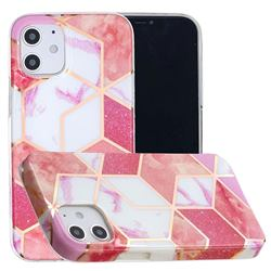 Cherry Glitter Painted Marble Electroplating Protective Case for iPhone 12 mini (5.4 inch)