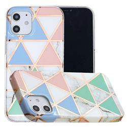 Fresh Triangle Painted Marble Electroplating Protective Case for iPhone 12 mini (5.4 inch)