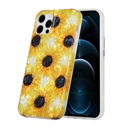 Yellow Sunflowers Shell Pattern Glossy Rubber Silicone Protective Case Cover for iPhone 12 mini (5.4 inch)