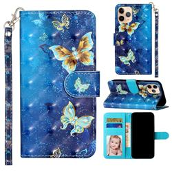 Rankine Butterfly 3D Leather Phone Holster Wallet Case for iPhone 12 mini (5.4 inch)