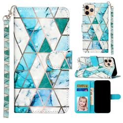Stitching Marble 3D Leather Phone Holster Wallet Case for iPhone 12 mini (5.4 inch)