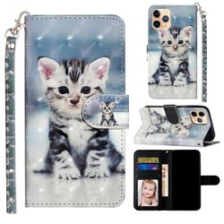 Kitten Cat 3D Leather Phone Holster Wallet Case for iPhone 12 mini (5.4 inch)