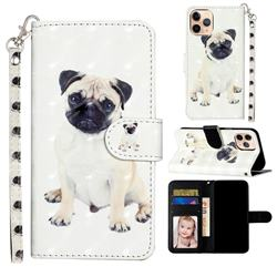Pug Dog 3D Leather Phone Holster Wallet Case for iPhone 12 mini (5.4 inch)