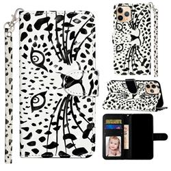 Leopard Panther 3D Leather Phone Holster Wallet Case for iPhone 12 mini (5.4 inch)