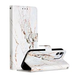 White Marble Smooth Leather Phone Wallet Case for iPhone 12 (5.4 inch)