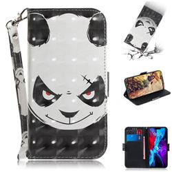 Angry Bear 3D Painted Leather Wallet Phone Case for iPhone 12 (5.4 inch)