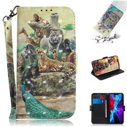Beast Zoo 3D Painted Leather Wallet Phone Case for iPhone 12 (5.4 inch)