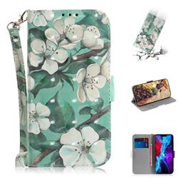 Watercolor Flower 3D Painted Leather Wallet Phone Case for iPhone 12 (5.4 inch)
