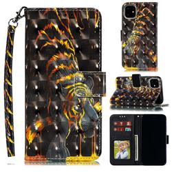 Tiger Totem 3D Painted Leather Phone Wallet Case for iPhone 12 (5.4 inch)