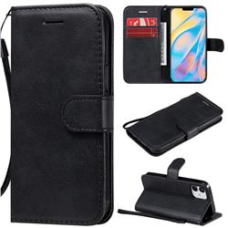 Retro Greek Classic Smooth PU Leather Wallet Phone Case for iPhone 12 (5.4 inch) - Black