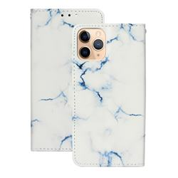 Soft White Marble PU Leather Wallet Case for iPhone 12 (5.4 inch)