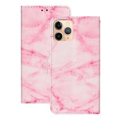 Pink Marble PU Leather Wallet Case for iPhone 12 (5.4 inch)