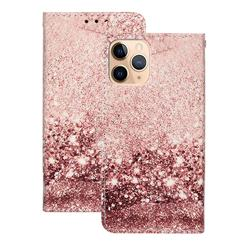 Glittering Rose Gold PU Leather Wallet Case for iPhone 12 (5.4 inch)
