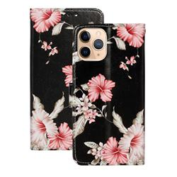 Azalea Flower PU Leather Wallet Case for iPhone 12 (5.4 inch)
