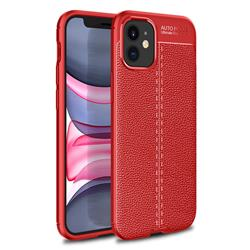 Luxury Auto Focus Litchi Texture Silicone TPU Back Cover for iPhone 12 mini (5.4 inch) - Red