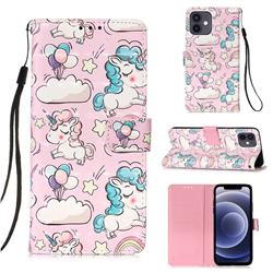 Angel Pony 3D Painted Leather Wallet Case for iPhone 12 mini (5.4 inch)