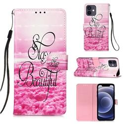 Beautiful 3D Painted Leather Wallet Case for iPhone 12 mini (5.4 inch)