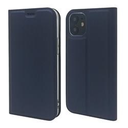 Ultra Slim Card Magnetic Automatic Suction Leather Wallet Case for iPhone 12 mini (5.4 inch) - Royal Blue