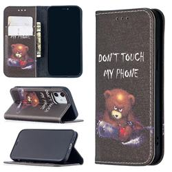 Chainsaw Bear Slim Magnetic Attraction Wallet Flip Cover for iPhone 12 mini (5.4 inch)