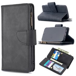 Binfen Color BF02 Sensory Buckle Zipper Multifunction Leather Phone Wallet for iPhone 12 mini (5.4 inch) - Black