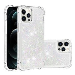 Dynamic Liquid Glitter Sand Quicksand Star TPU Case for iPhone 12 / 12 Pro (6.1 inch) - Pink