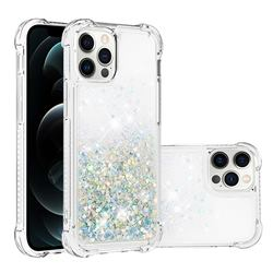 Dynamic Liquid Glitter Sand Quicksand Star TPU Case for iPhone 12 / 12 Pro (6.1 inch) - Silver