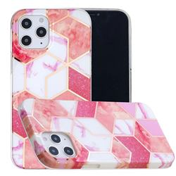 Cherry Glitter Painted Marble Electroplating Protective Case for iPhone 12 / 12 Pro (6.1 inch)