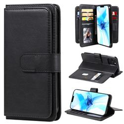 Multi-function Ten Card Slots and Photo Frame PU Leather Wallet Phone Case Cover for iPhone 12 / 12 Pro (6.1 inch) - Black