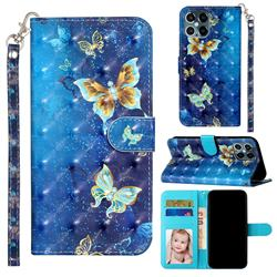 Rankine Butterfly 3D Leather Phone Holster Wallet Case for iPhone 12 / 12 Pro (6.1 inch)
