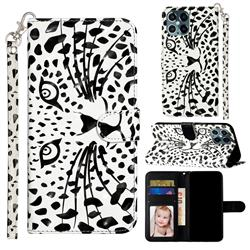 Leopard Panther 3D Leather Phone Holster Wallet Case for iPhone 12 / 12 Pro (6.1 inch)