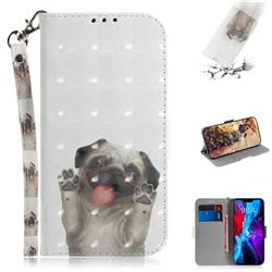 Pug Dog 3D Painted Leather Wallet Phone Case for iPhone 12 Pro (6.1 inch)