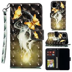 Dream Butterfly 3D Painted Leather Phone Wallet Case for iPhone 12 Pro (6.1 inch)