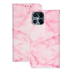 Pink Marble PU Leather Wallet Case for iPhone 12 Pro (6.1 inch)