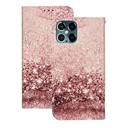 Glittering Rose Gold PU Leather Wallet Case for iPhone 12 Pro (6.1 inch)