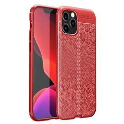 Luxury Auto Focus Litchi Texture Silicone TPU Back Cover for iPhone 12 / 12 Pro (6.1 inch) - Red