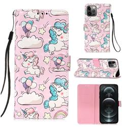 Angel Pony 3D Painted Leather Wallet Case for iPhone 12 / 12 Pro (6.1 inch)