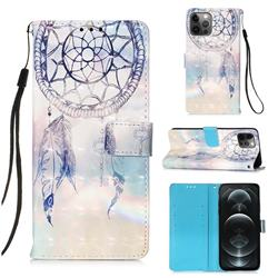 Fantasy Campanula 3D Painted Leather Wallet Case for iPhone 12 / 12 Pro (6.1 inch)