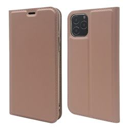 Ultra Slim Card Magnetic Automatic Suction Leather Wallet Case for iPhone 12 / 12 Pro (6.1 inch) - Rose Gold